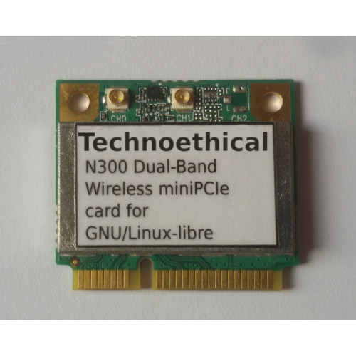 Technoethical N300 Dual Band Wireless miniPCIe Card for GNU/Linux